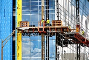 Industrial Photography, Builders buidling Cancer Center in New Orleans