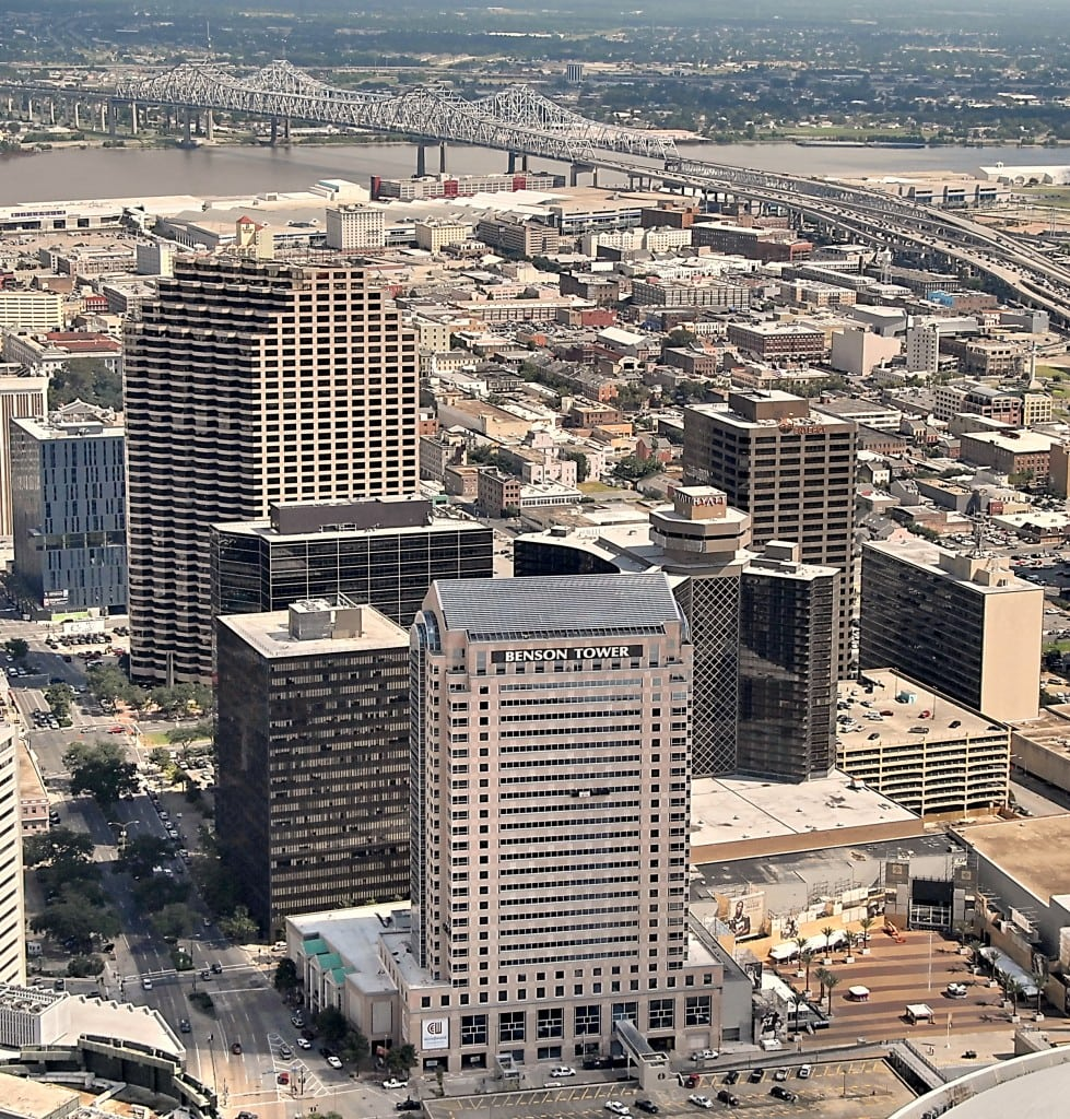 Stanwycks Photography Aerial, New Orleans Skyline in the CBD